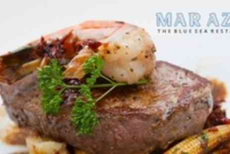 Mar Azul - Two Course Steak or Lobster Meal For Two With Wine - Save 56%
