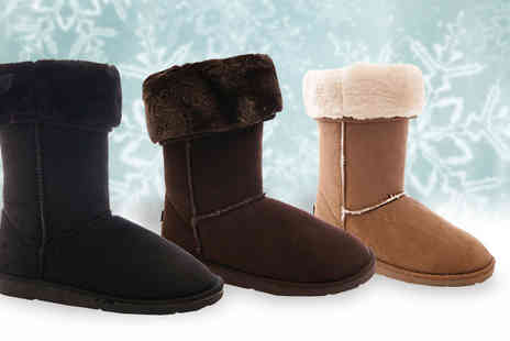 Solewish - Faux Suede Womens Winter Boots  - Save 74%