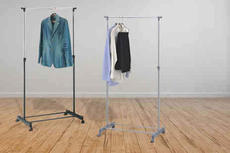 Zoozio - Single rail clothing rack in grey or black  - Save 72%