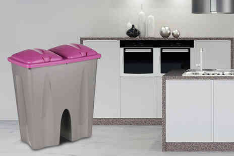 Easygift Trading  - Double 25 Litre Recycling Duo Bin - Save 61%
