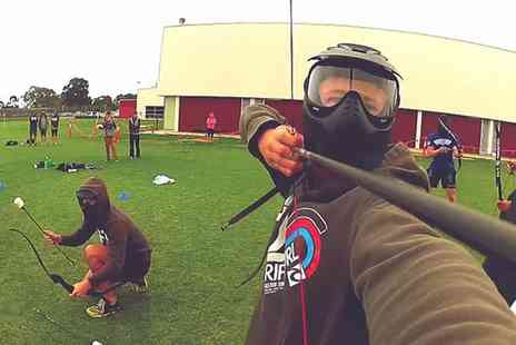 Non Lethal Archery - Archery Tag Party for 10 Kids or Adults  - Save 61%