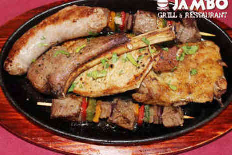 Jambo Grill & Restaurant - Two Course African Meal with Wine for Two - Save 56%