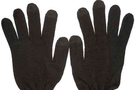 Funky Monkey Gift Shop - Pair of mens touchscreen gloves   - Save 80%