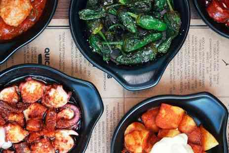 Mas Q Menos - Authentic Spanish Tapas with Pan Catalana and Wine for Up to Four  - Save 0%