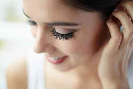 Glam Hair and Beauty - Single Eyelash Extension with Optional Eyebrow Shape and Tint  - Save 60%