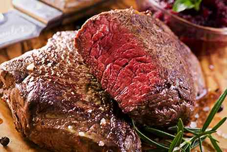 Satis House - Steak Meal with Champagne for Two - Save 51%