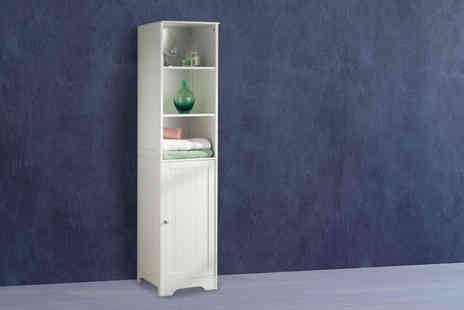 Zoozio - Tall boy bathroom cabinet - Save 66%