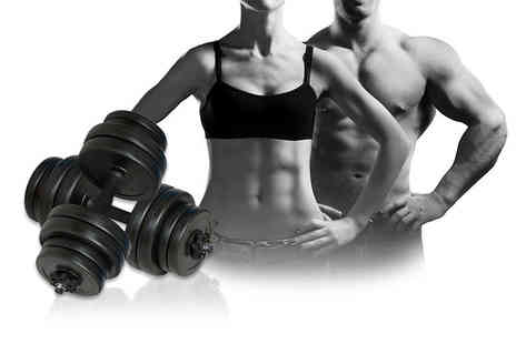 Vida XL - Two 15kg dumbbells - Save 0%