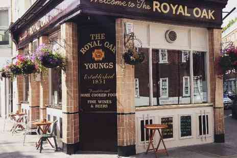 The Royal Oak - Two course meal for two with a bottle of wine - Save 49%
