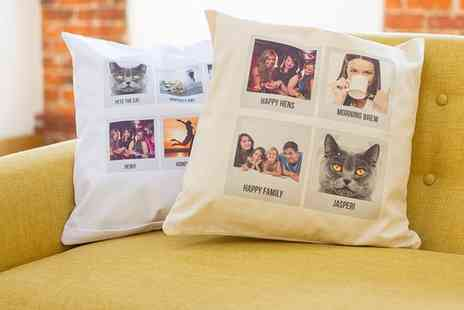 Prints With Feelings - Personalised Polaroid Photo Cushion Cover - Save 62%