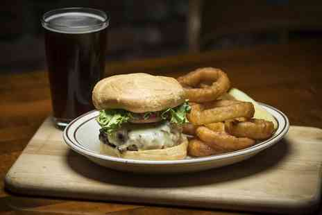 Tally Ho Hotel - Bacon Cheeseburger, Onion Rings and Drink for One - Save 37%