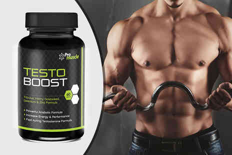 Pro Muscle Products - One Month Supply of Testo Boost Capsule - Save 82%