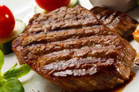 The Applebank Inn - Sirloin Steak Meal with Glass of Wine for Two - Save 63%