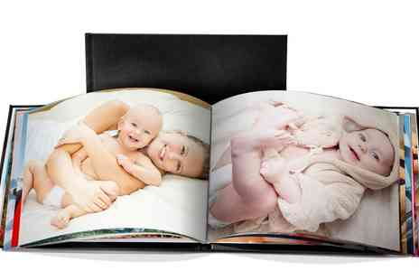 Printerpix - Personalised A5 Landscape Leather Photobook - Save 95%