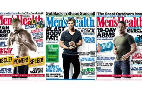 Hearst Magazines - 12 Month Subscription to Mens Health Magazine With Free Delivery  - Save 57%