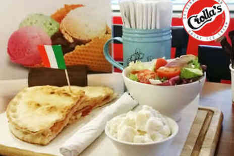 Crollas Gelateria - Sandwich and Salad with Drink for Two - Save 49%