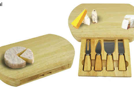 CE Stevenson Motors - Slide Out Wooden Cheese Board & Knife Set - Save 0%