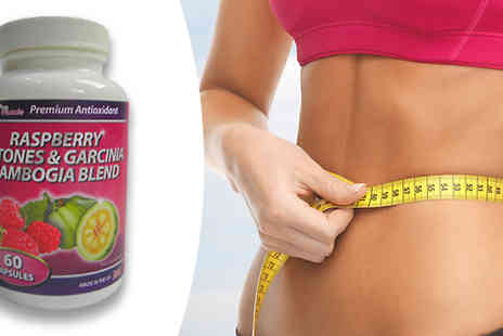 Pro Muscle Products - One Month Supply of Raspberry Ketones And Garcinia Cambogia Capsules - Save 80%