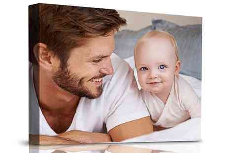 Printerpix - Personalised Thick Canvas in Choice of Size - Save 84%