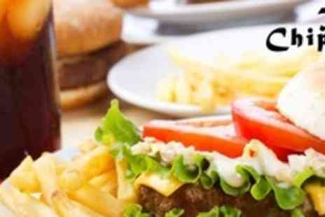 The Chippie - Burger, Pastie, or Sausage Meal For Two With Chips, Sauce, and Soft Drink Each - Save 53%