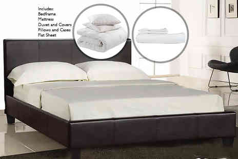 The Sleep Inn - Complete single bed set including bed, mattress and bedding set - Save 69%