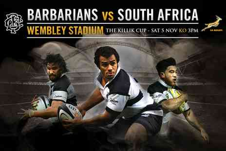 Barbarians - One ticket upgrade to Barbarians v South Africa on 5 November  - Save 0%