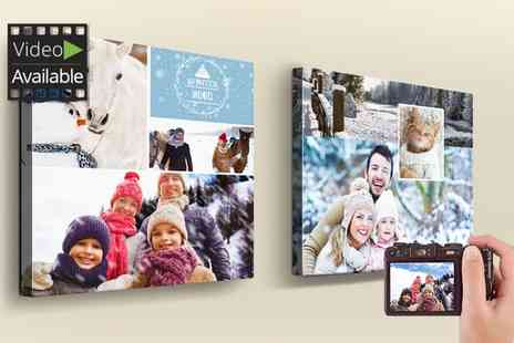 Printerpix - Personalised Collage Canvas Print in Choice of Size - Save 84%