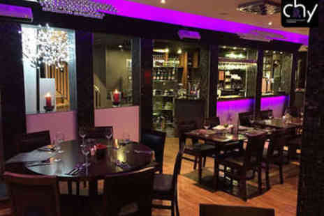 Chy Restaurant - Three Course Chinese Meal with Wine for Two - Save 41%