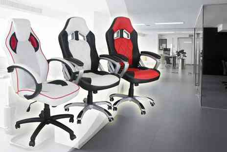 Sleep Design  - PU Leather Racing Style Office Chair in Three Colours - Save 61%