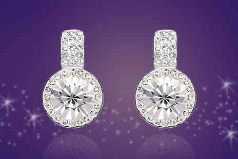 Diamond Republic Jewllery - Rosemaria Swarovski Elements Crystal Earrings - Save 74%