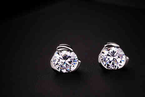 Diamond Republic Jewllery - Zircon Crystal Studs - Save 82%