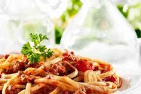 Pinocchios Italian Restaurant  - Pasta, garlic bread to share and a glass of wine for two - Save 65%