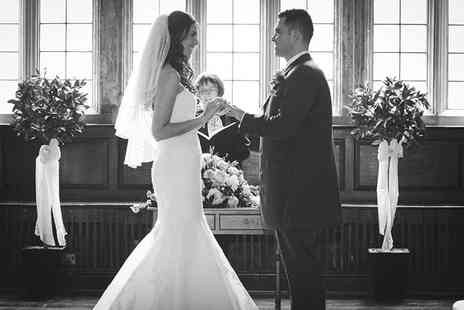 Black and White Photo - Wedding photography package including a USB of all images and two prints - Save 67%
