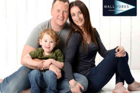 Wallworks Photography - Family Photo Shoot with Framed Print - Save 87%