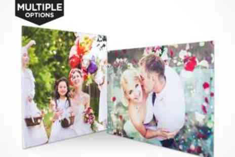 Personalised Photo Canvas - Choice of Personalised Photo Canvas - Save 80%