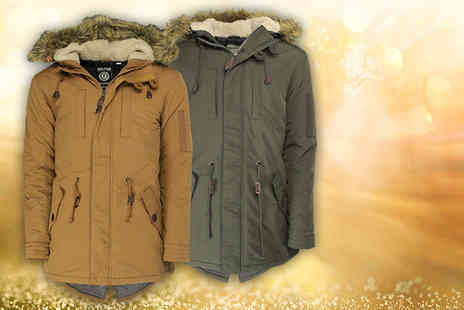 Brand Shopping Direct - Soul Star Fishtail parka jacket - Save 54%