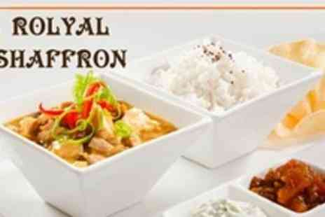 The Royal Saffron - Two Course Indian Meal For Four - Save 67%