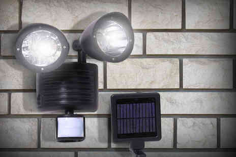 Zoozio - Solar-powered 22 LED motion sensor security light stay safe  - Save 70%