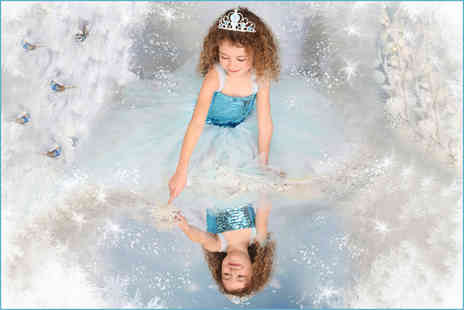"Picture Perfect by Mario - Frozen, fairy, princess or ballerina themed photoshoot with two 7"" x 5"" prints and a goody bag - Save 87%"