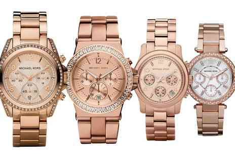 I love watches - Michael Kors Rose Gold Tone Watch With Free Delivery - Save 35%