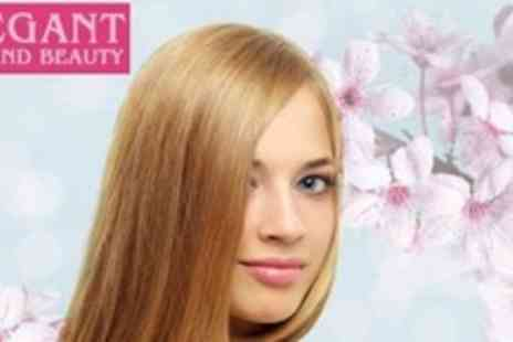 Elegant Hair and Beauty - Half Head of Highlights or Full Head of Colour Plus Cut and Blow Dry - Save 62%