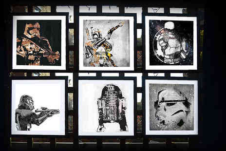 Whoartnow - Regular framed Star Wars inspired print  - Save 87%