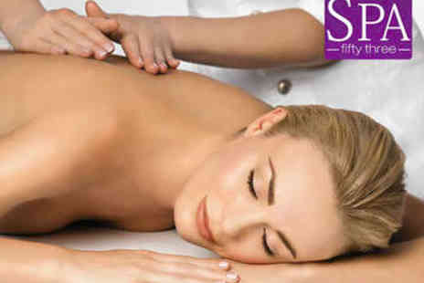 Spa 53 - Hour Long Back and Shoulder Massage plus Face Massage - Save 71%