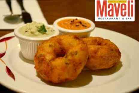 Maveli Restaurant - Two Course South Indian Meal for 2 plus Beer plus Sides - Save 53%