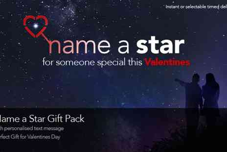 Star Listings - Personalised Name a Star Gift Sets, Including PDF Version with Text message & eBook - Save 52%