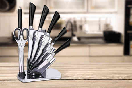 Zoozio - Eight piece stainless steel culinary set and acrylic stand   - Save 84%