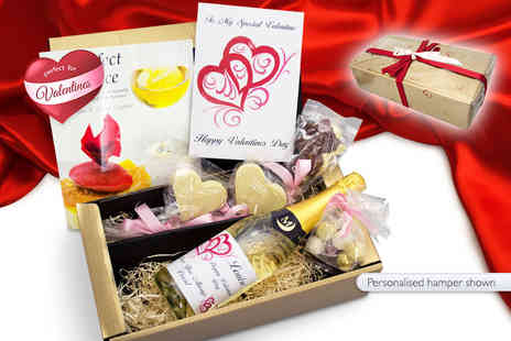 Derbyshire Wine Company -  Romancing the Stone Valentines hamper with wine, truffles and more  - Save 62%