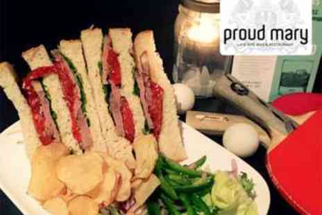 Proud Mary - Deli Sandwich, Beer and Ping Pong for Two - Save 64%