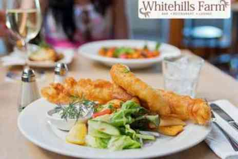 Whitehills Farm - Two Course Meal with Bottle of Wine for Two - Save 52%