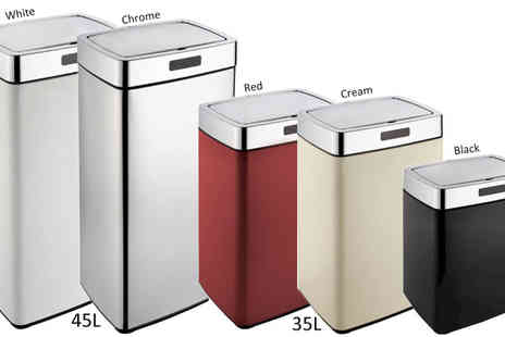 To Your Home - Mono Rectangle Sensor Bin in 3 Sizes & 5 Colours - Save 70%
